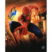 Signed Stan Lee Photo - 16X20 Spider Man Movie)