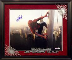 Spiderman Autographed by Stan Lee 16x20 with Deluxe Frame