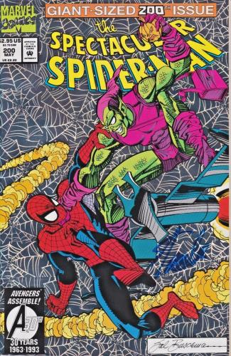 Stan Lee Autographed 200th Issue The Spectacular Spider Man Comic JSA WP500763