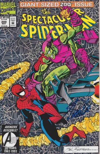 Stan Lee Autographed 200th Issue Web of Spider Man Comic Book JSA WP500763