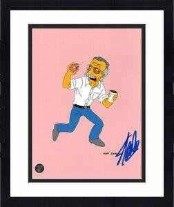 Stan Lee Autographed 8X10 Photo (Simpsons)
