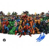 Stan Lee Autographed 8X10 Photo (w/Marvel Characters)