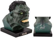 Stan Lee Autographed Alex Ross Hulk Mini Bust with Silver Ink - BAS COA