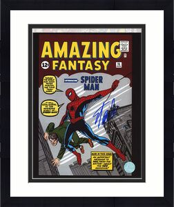 Stan Lee Autographed Amazing Fantasy #15 Spider-Man Comic Cover 8x10 Photo