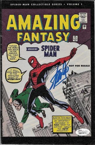 Stan Lee Autographed Amazing Fantasy Spider Man Comic Book JSA W619711