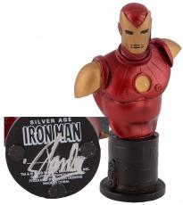 Stan Lee Autographed Classic Iron Man Mini Bust with Silver Ink - BAS COA