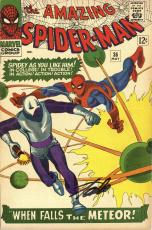Stan Lee Autographed Comic Book 1966 Amazing Spider Man #36 with Black Ink - Stan Lee Hologram