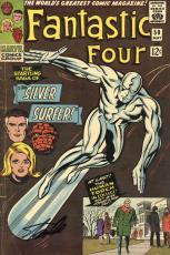 Stan Lee Autographed Comic Book 1966 Fantastic Four #50 with Black Ink - Stan Lee Hologram