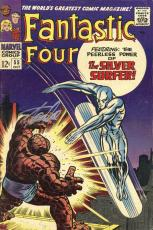 Stan Lee Autographed Comic Book 1966 Fantastic Four #55 with Silver Ink - Stan Lee Hologram