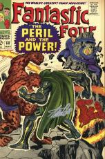 Stan Lee Autographed Comic Book 1966 Fantastic Four #60 with Silver Ink - BAS COA