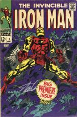 Stan Lee Autographed Comic Book 1968 Invincible Iron Man #1 with Silver Ink - Stan Lee Hologram