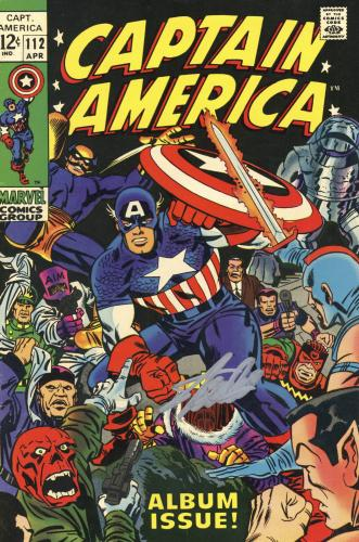 Stan Lee Autographed Comic Book 1969 Captain America #112 with Silver Ink - BAS COA