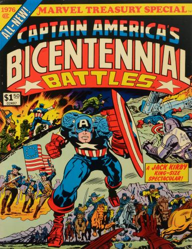 Stan Lee Autographed Comic Book 1976 Treasury Edition Captain America with Black Ink - BAS COA
