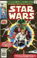 Stan Lee Autographed Comic Book 1977 Star Wars #1  with Black Ink - Stan Lee Hologram