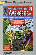 Stan Lee Autographed Comic Book 1994 Milestone Edition Avengers #1 with Black Ink - Stan Lee Hologram
