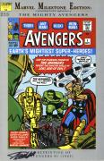 Stan Lee Autographed Comic Book 1994 Milestone Edition Avengers #1 with Black Ink - BAS COA