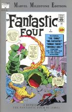 Stan Lee Autographed Comic Book 1994 Milestone Edition Fantastic Four #1 with Black Ink - Stan Lee Hologram