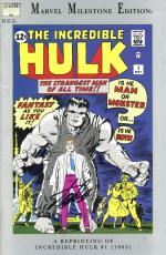 Stan Lee Autographed Comic Book 1994 Milestone Edition Incredible Hulk #1 with Black Ink - Stan Lee Hologram