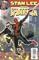 Stan Lee Autographed Comic Book 2006 Stan Lee Meets Spider Man #1  with Black Ink - Stan Lee Hologram