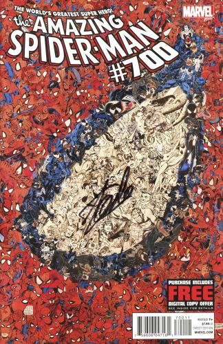 Stan Lee Autographed Comic Book 2013 Amazing Spider Man #700 with Black Ink - BAS COA