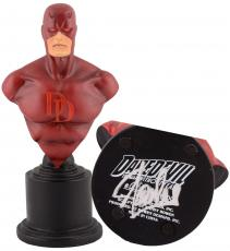 Stan Lee Autographed Daredevil Mini Bust with Silver Ink - Stan Lee Hologram