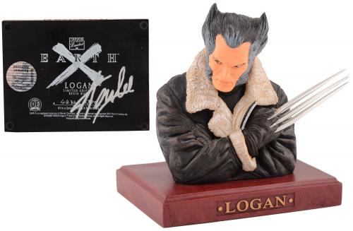 Stan Lee Autographed Earth X Logan Bust with Silver Ink - BAS COA