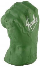 Stan Lee Autographed Incredible Hulk Hand with Silver Ink - BAS COA