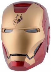 Stan Lee Autographed Iron Man Replica Helmet with Black Ink - BAS COA