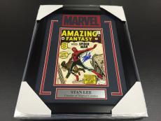 Stan Lee Autographed Jsa Framed 8x10 Photo Marvel Amazing Fantasy #15 Spiderman