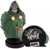 Stan Lee Autographed Marvel Icons Dr. Doom Bust with Silver Ink - BAS COA