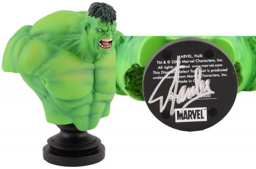 Stan Lee Autographed Marvel Icons Hulk Bust with Silver Ink - BAS COA