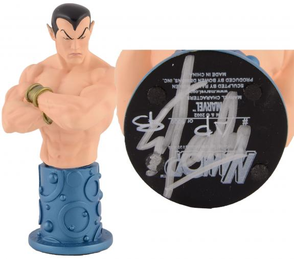 Stan Lee Autographed Namor Mini Bust with Silver Ink - BAS COA
