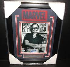 Stan Lee Autographed Psa Framed 8x10 Photo Marvel Authentic Signed