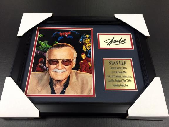 Stan Lee Autographed Reprint Framed 8x10 Marvel Comic Photo Amazing Spiderman