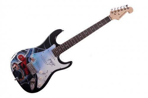Stan Lee Autographed Signed Airbrushed Guitar Preorder Spiderman AFTAL