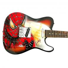 Stan Lee Autographed Signed Airbrushed Painted Spiderman Tele Guitar