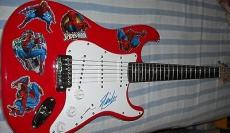 Stan Lee autographed signed auto Spider-Man Fender Squier Bullet electric guitar