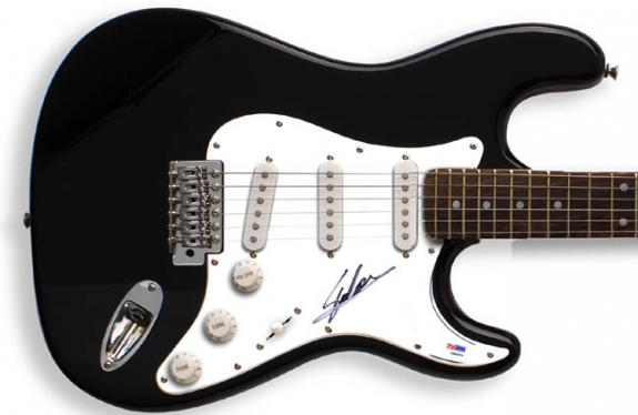 Stan Lee Autographed Signed Guitar Spider-man PSA/DNA AFTAL