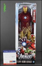 Stan Lee Autographed Signed Iron Man Figurine Avengers Titan Hero Psa/dna Coa