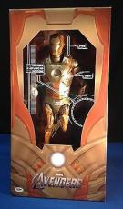 "Stan Lee Autographed Signed Marvel Avengers Iron Man 19"" Figure PSA/DNA"