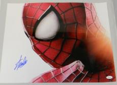 STAN LEE AUTOGRAPHED SIGNED SPIDER-MAN MOVIE MARVEL COMICS 16x20 PHOTO JSA