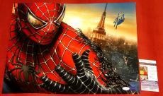 Stan Lee Autographed Spider-man 16x20 Photo Jsa Slc Marvel