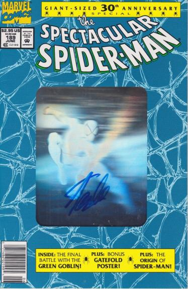 Stan Lee Autographed Spider Man 30th Anniversary Blue Comic Book JSA WP500738
