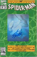 Stan Lee Autographed Spider Man 30th Anniversary Green Comic Book JSA WP500753