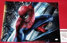 Stan Lee Autographed Spiderman 16x20 Photo Jsa Marvel