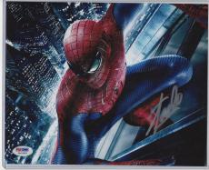 Stan Lee Autographed Spiderman 8x10 Photograph Psa/dna Certified