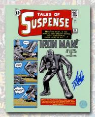Stan Lee Autographed Tales Of Suspense #39 Iron Man Comic Cover 8x10 Photo