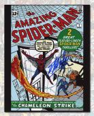 Stan Lee Autographed The Amazing Spider-Man #1 Comic Cover 11x14 Photo