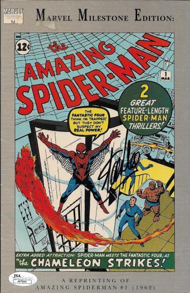 Stan Lee Autographed The Amazing Spider Man Comic Book Reprint JSA J97594