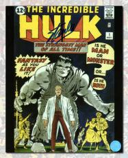 Stan Lee Autographed The Incredible Hulk Comic Cover 11x14 Photo